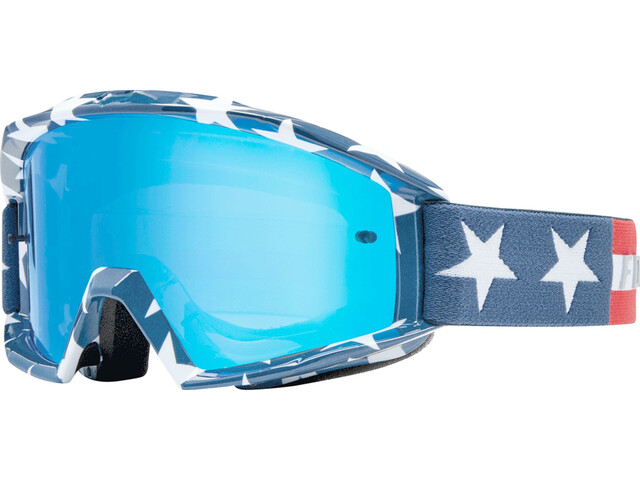 Fox Main Stripe goggles, white/red/blue